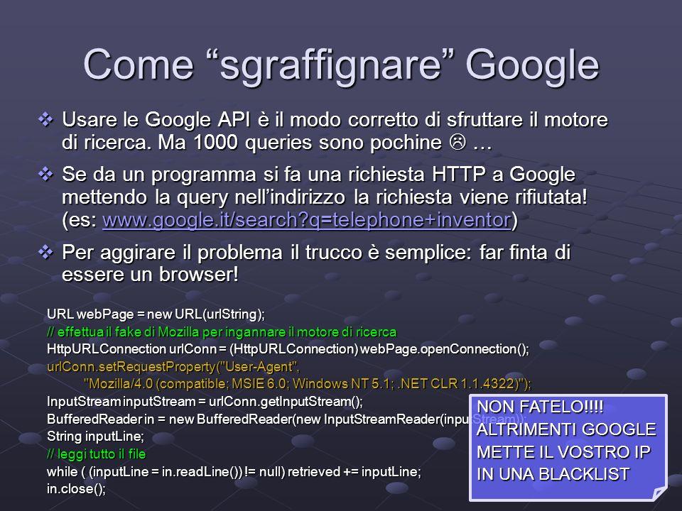 Come sgraffignare Google