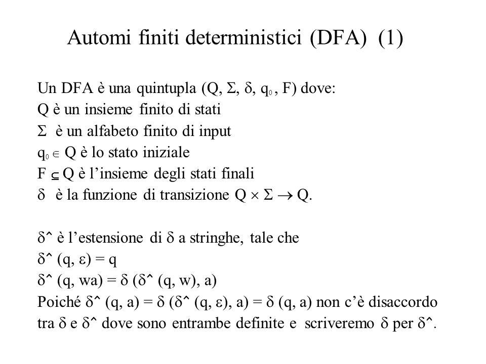 Automi finiti deterministici (DFA) (1)