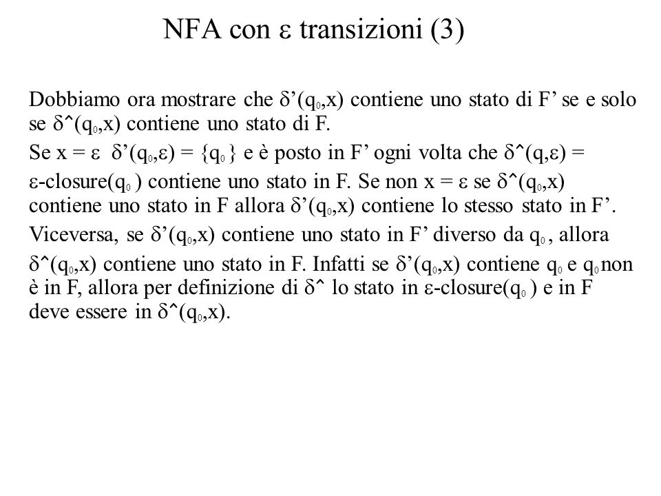 NFA con e transizioni (3)