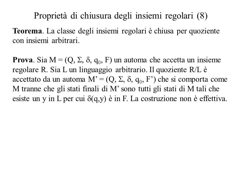 Proprietà di chiusura degli insiemi regolari (8)