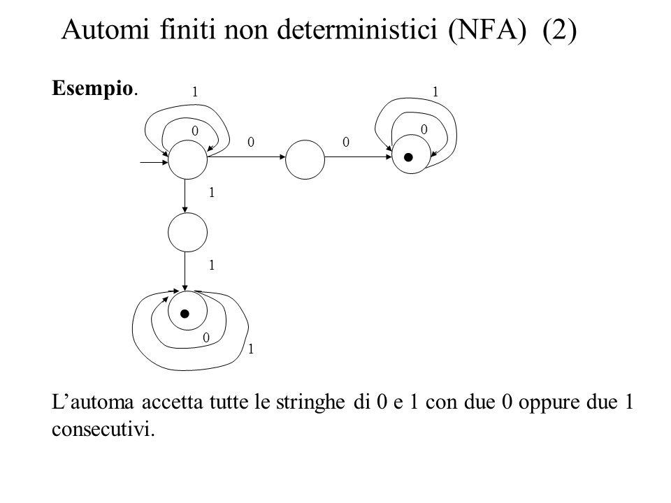 Automi finiti non deterministici (NFA) (2)