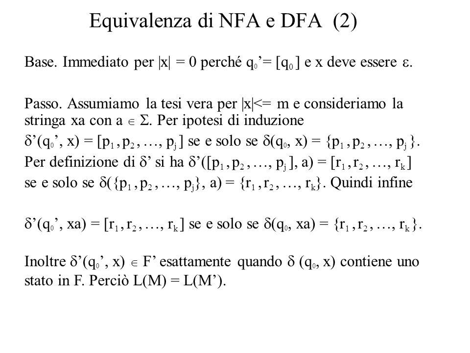 Equivalenza di NFA e DFA (2)
