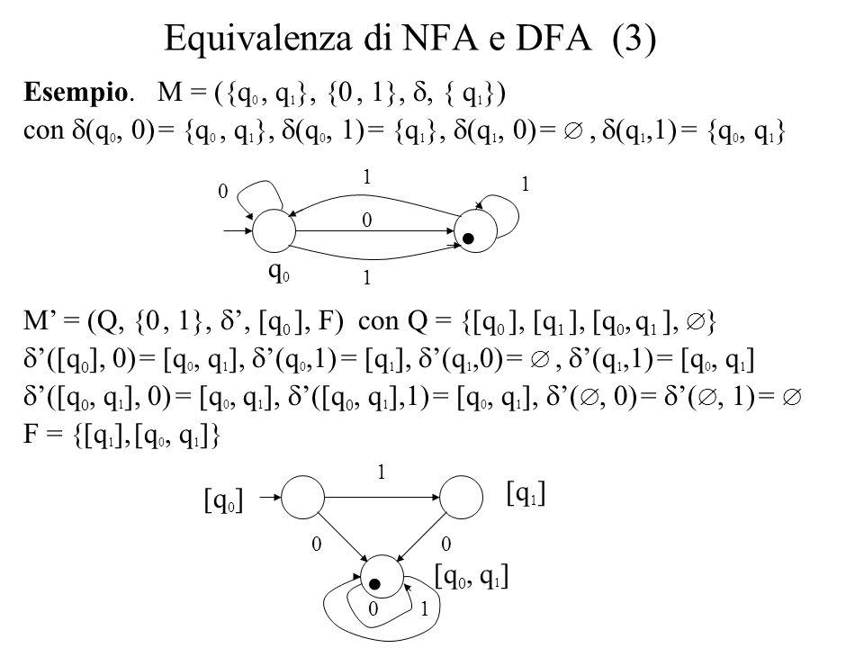 Equivalenza di NFA e DFA (3)