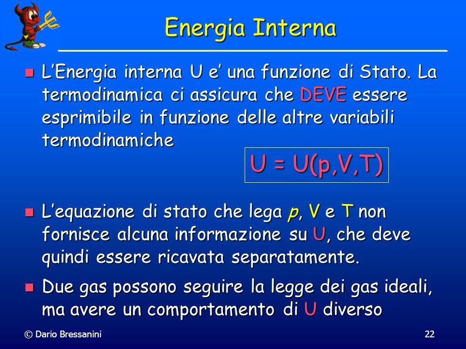 Energia Interna U = U(p,V,T)