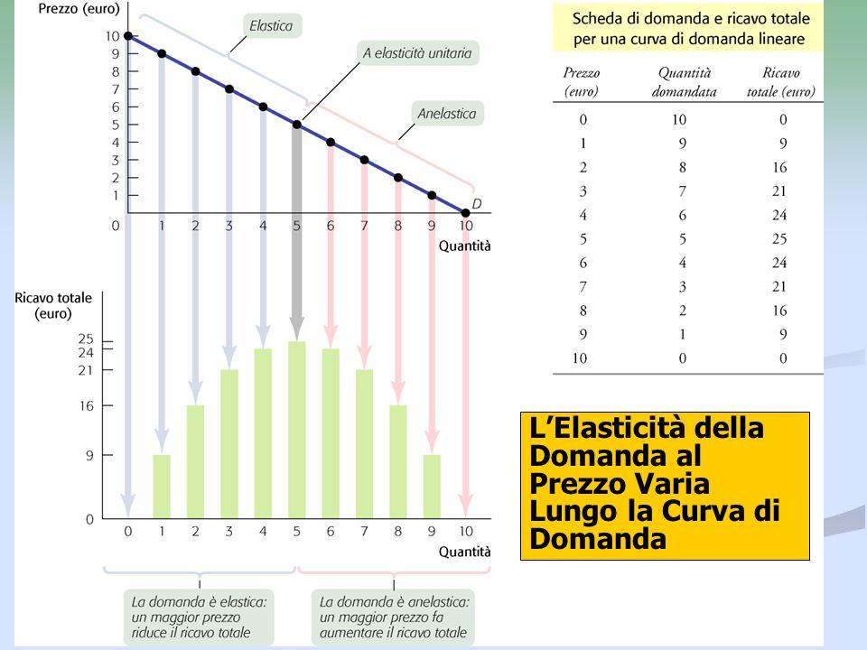 L'Elasticità della Domanda al Prezzo Varia Lungo la Curva di Domanda