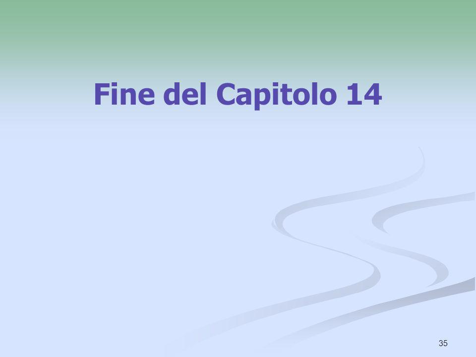 Fine del Capitolo 14
