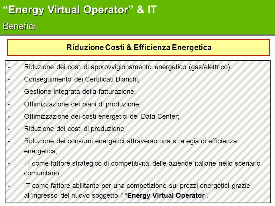 Riduzione Costi & Efficienza Energetica