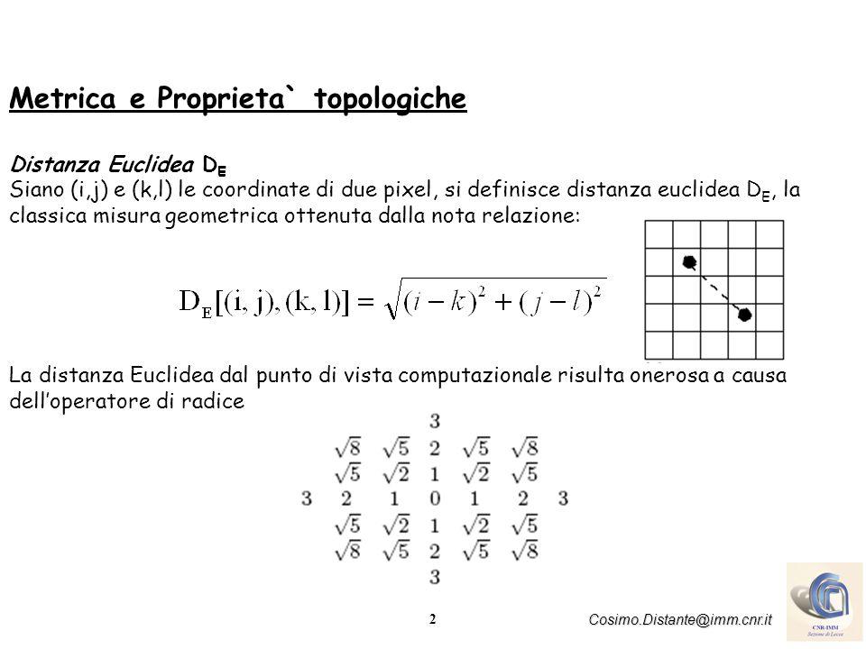 Metrica e Proprieta` topologiche
