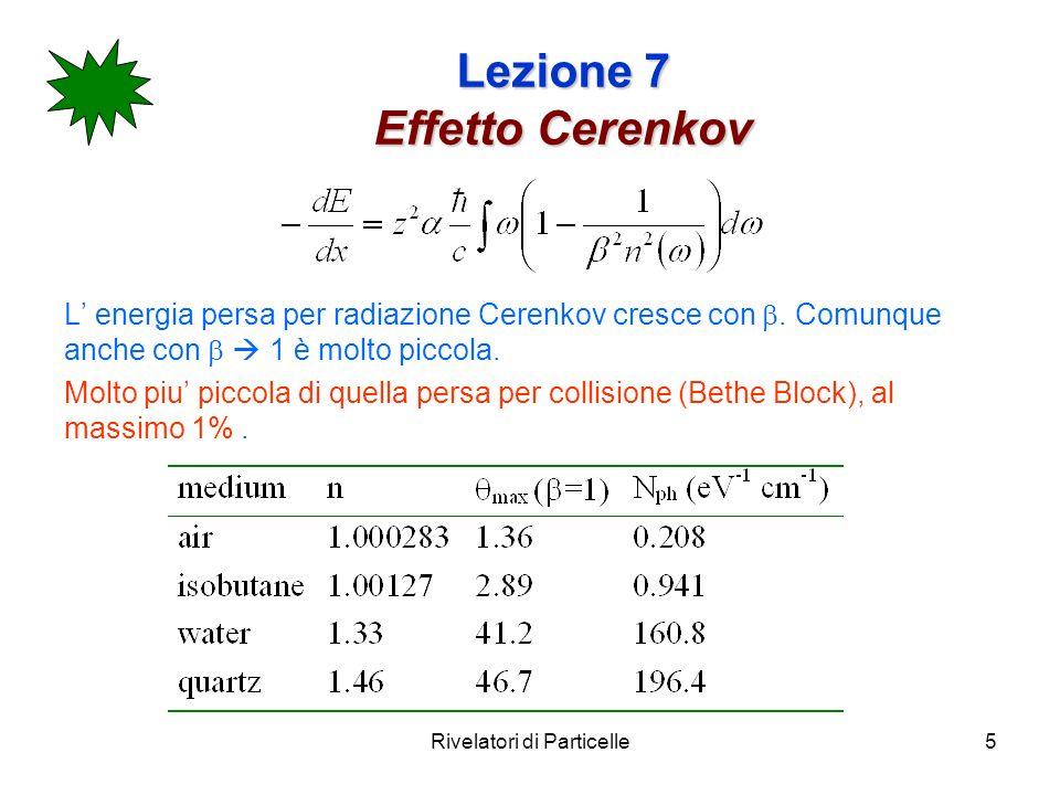 Lezione 7 Effetto Cerenkov