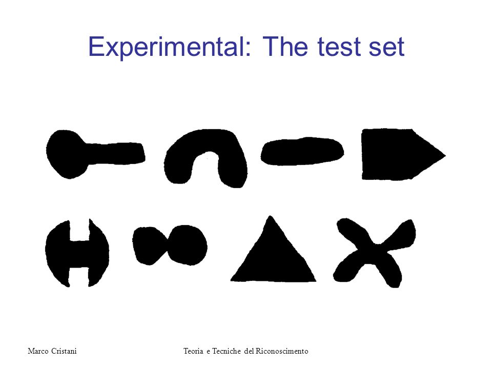 Experimental: The test set