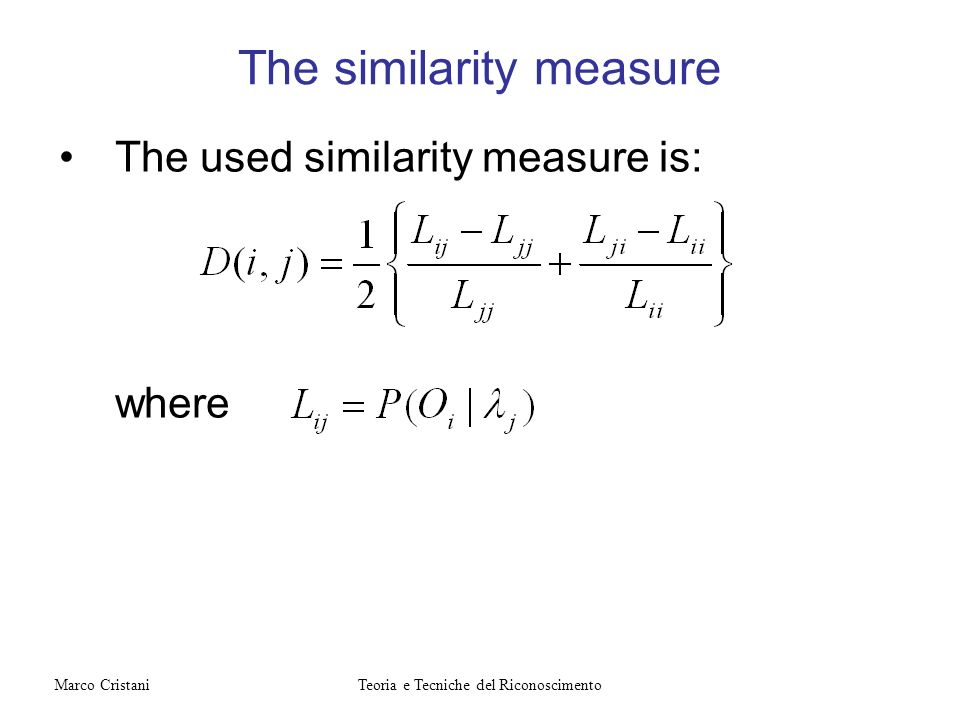 The similarity measure