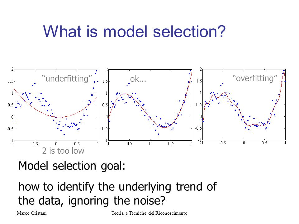 What is model selection