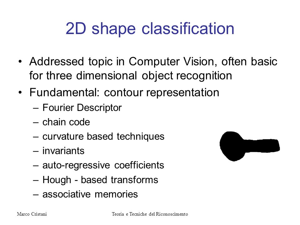 2D shape classification