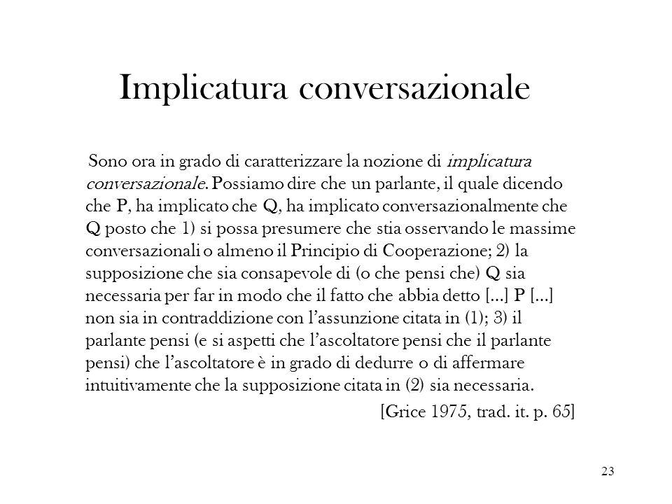 Implicatura conversazionale