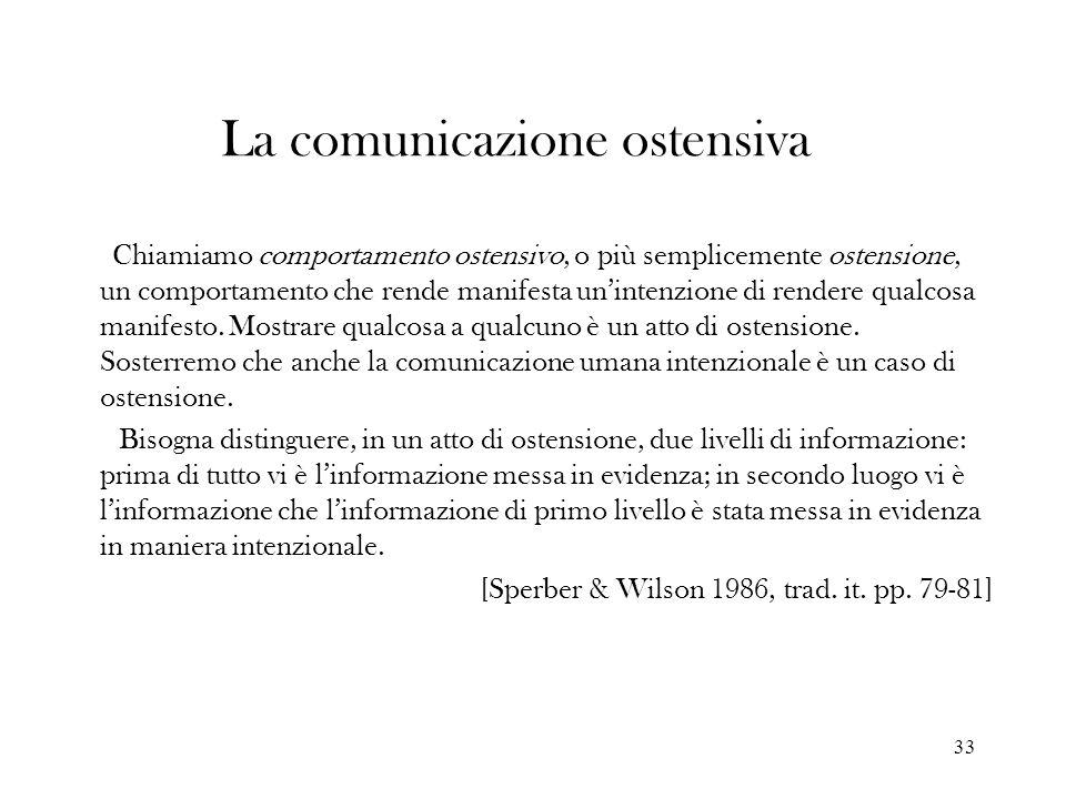 La comunicazione ostensiva