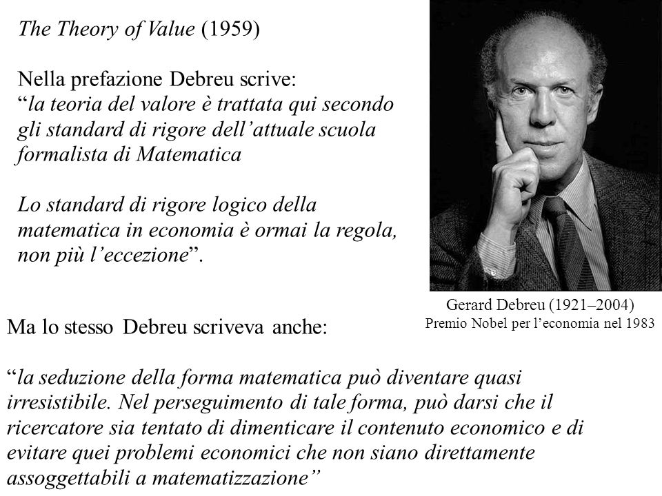Premio Nobel per l'economia nel 1983