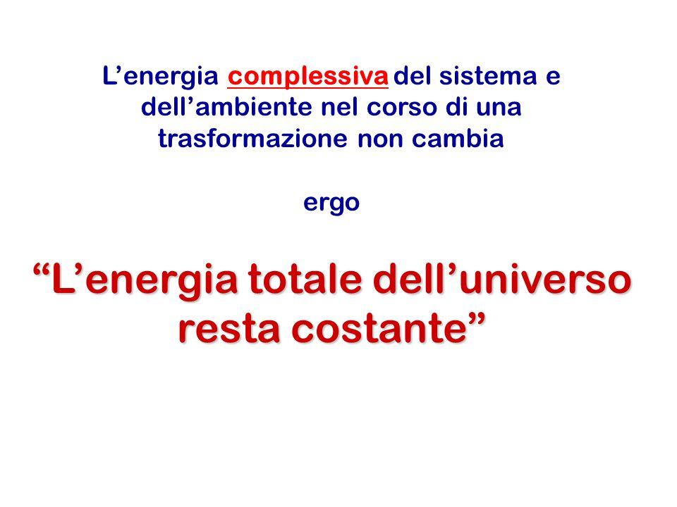 L'energia totale dell'universo resta costante