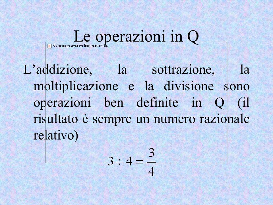 Le operazioni in Q