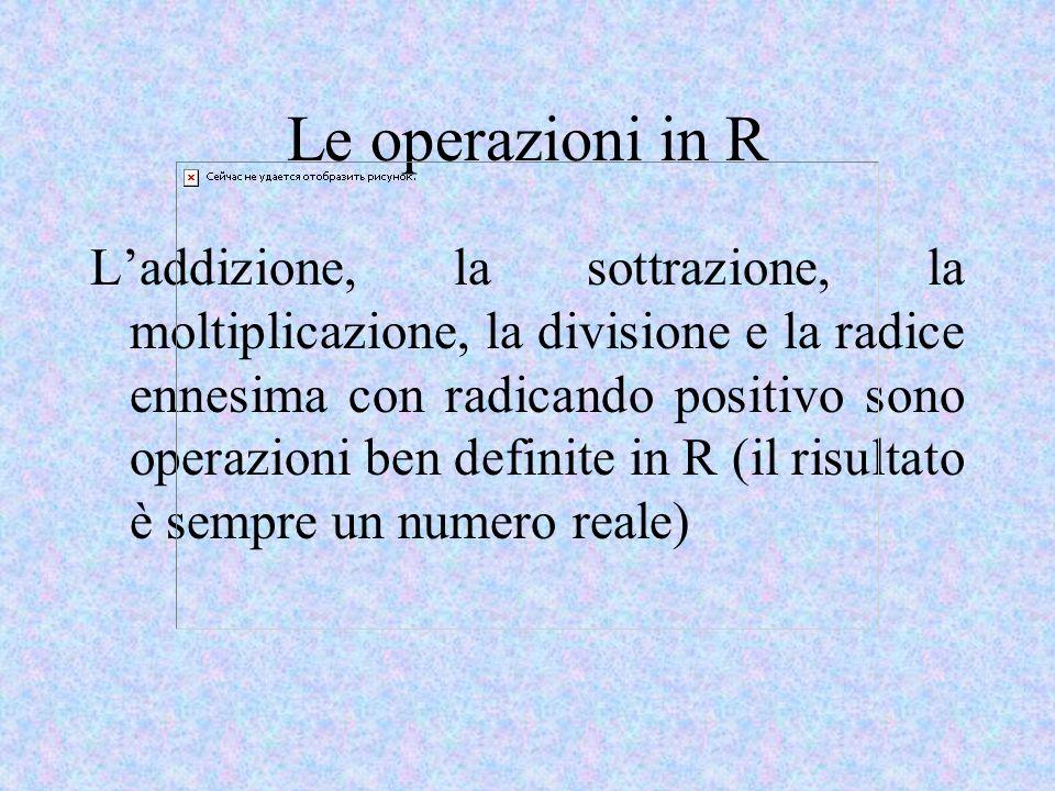 Le operazioni in R