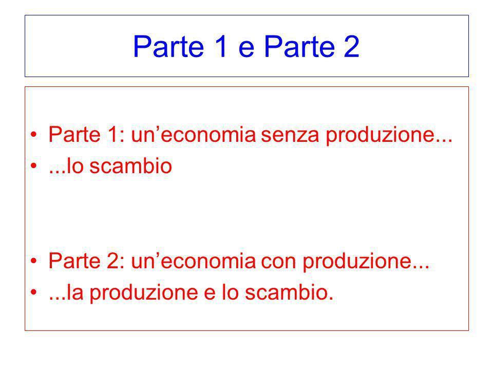 Parte 1 e Parte 2 Parte 1: un'economia senza produzione...