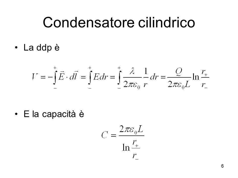 Condensatore cilindrico