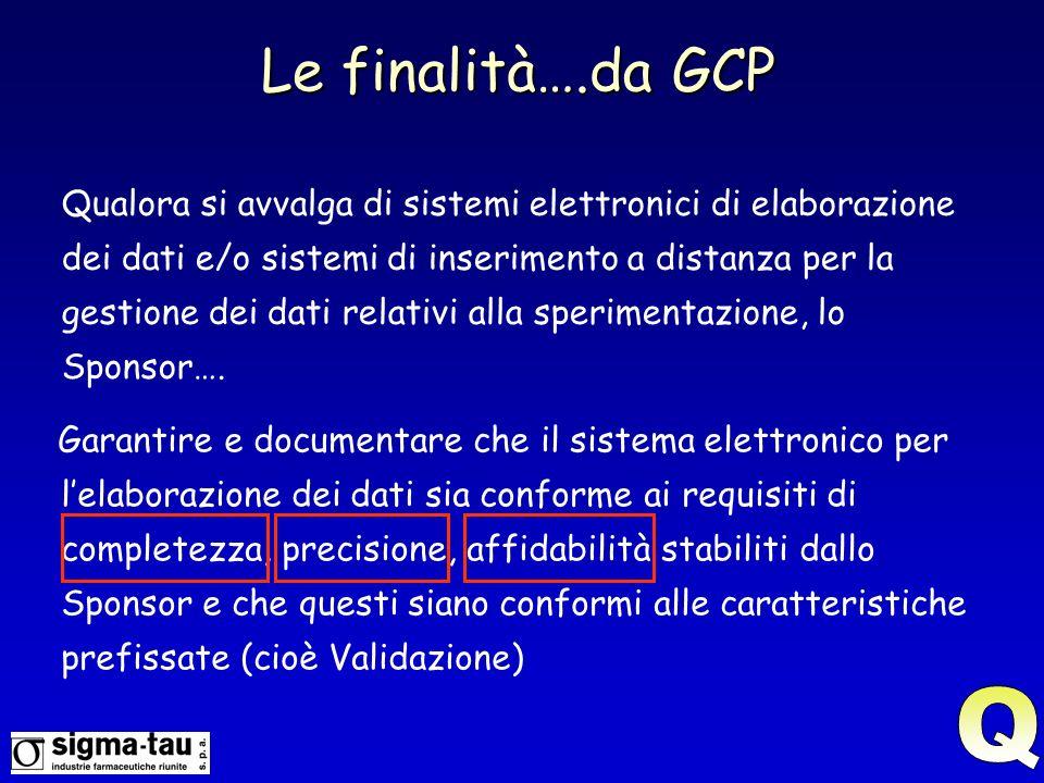 Le finalità….da GCP