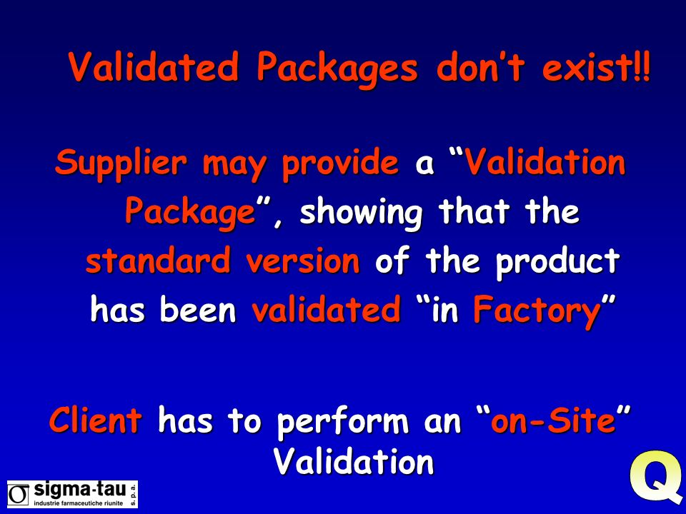 Validated Packages don't exist!!