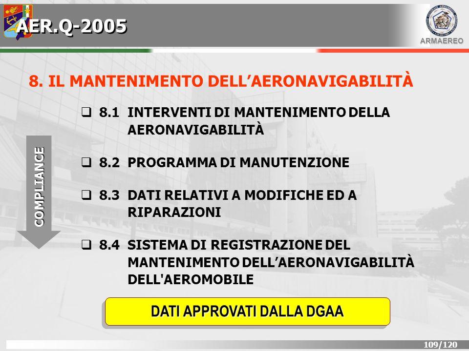 AER.Q-2005 8. IL MANTENIMENTO DELL'AERONAVIGABILITÀ