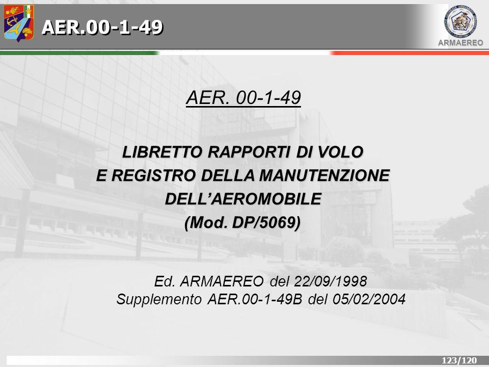 AER.00-1-49 AER. 00-1-49 LIBRETTO RAPPORTI DI VOLO