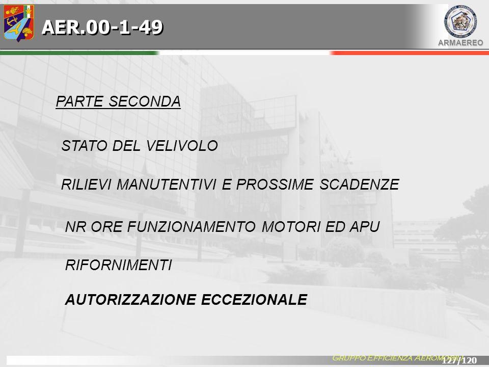 AER.00-1-49 PARTE SECONDA STATO DEL VELIVOLO