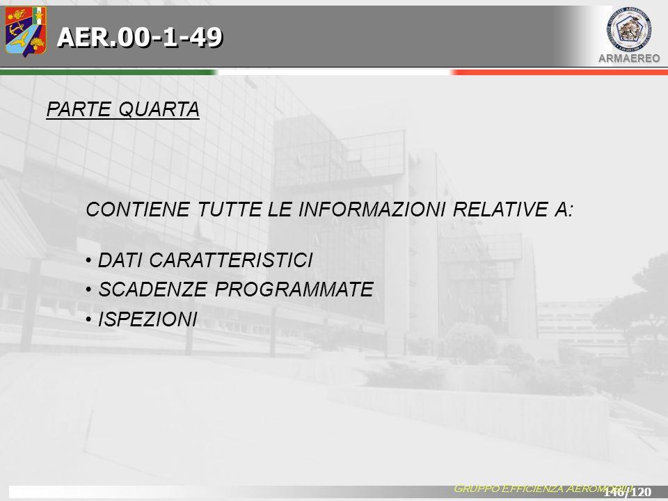 AER.00-1-49 PARTE QUARTA CONTIENE TUTTE LE INFORMAZIONI RELATIVE A: