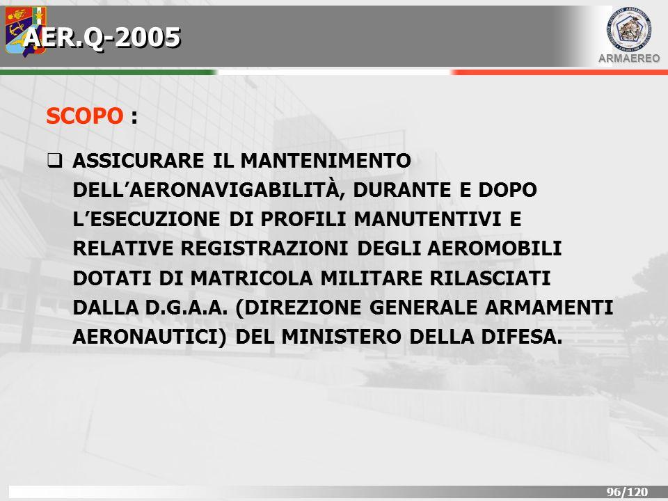 AER.Q-2005 SCOPO :