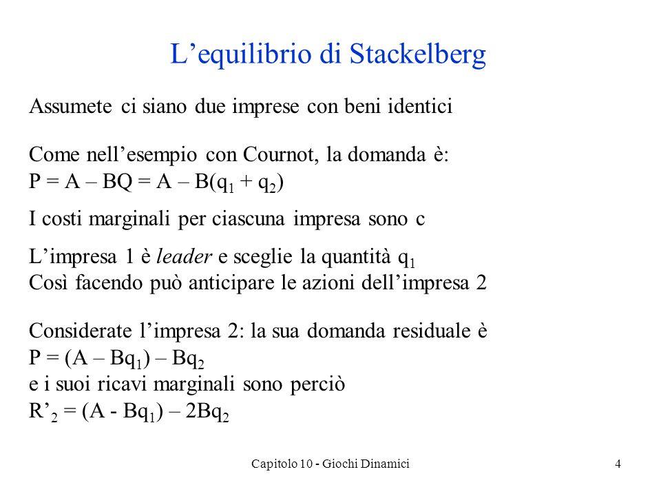 L'equilibrio di Stackelberg