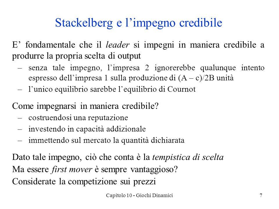 Stackelberg e l'impegno credibile