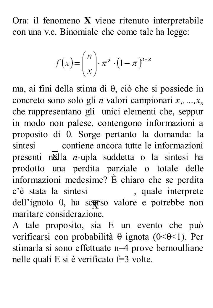 Ora: il fenomeno X viene ritenuto interpretabile con una v. c