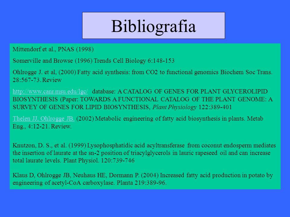 Bibliografia Mittendorf et al., PNAS (1998)