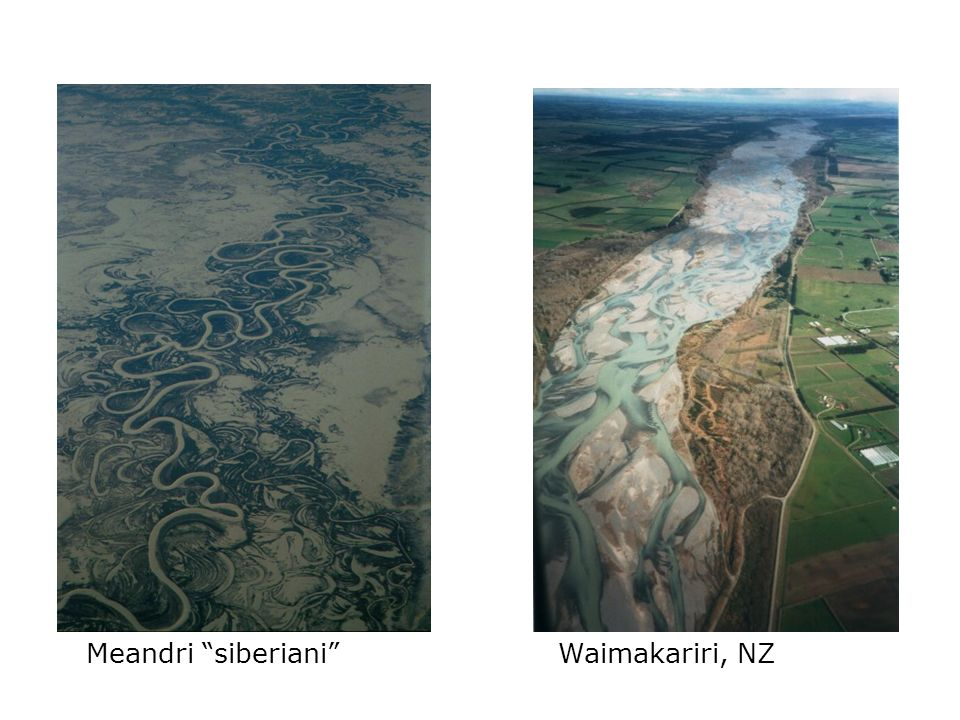 Meandri siberiani Waimakariri, NZ