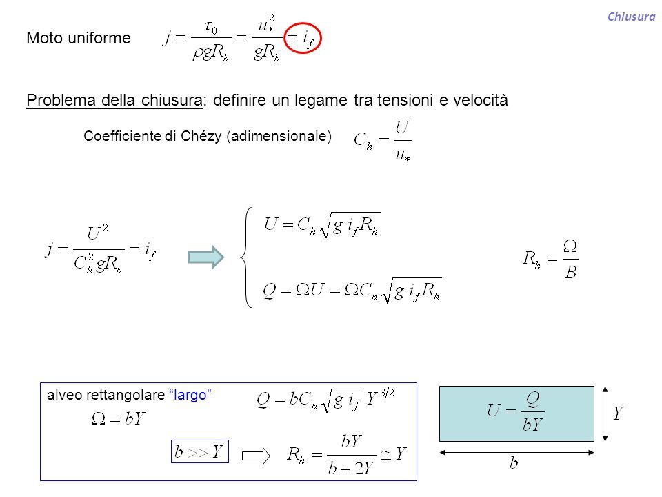 Problema della chiusura: definire un legame tra tensioni e velocità