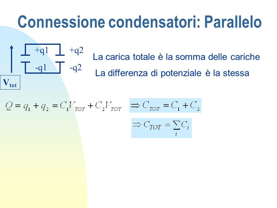 Connessione condensatori: Parallelo