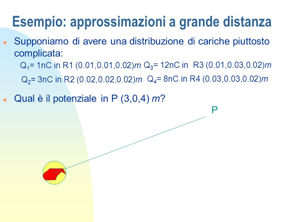 Esempio: approssimazioni a grande distanza