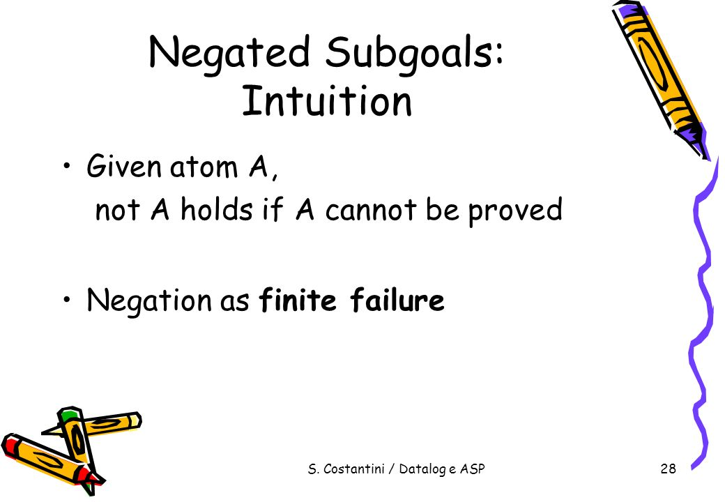 Negated Subgoals: Intuition