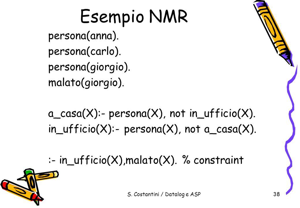 S. Costantini / Datalog e ASP