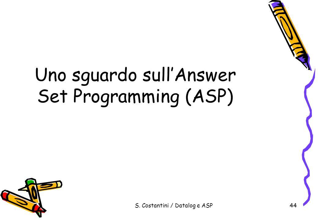 Uno sguardo sull'Answer Set Programming (ASP)