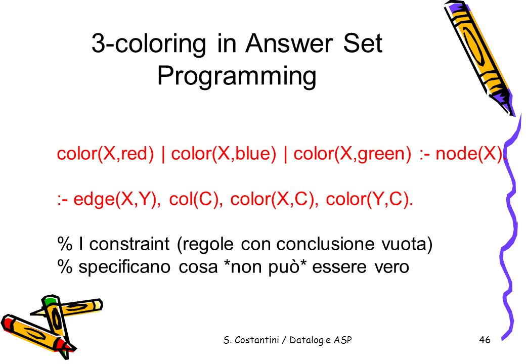 3-coloring in Answer Set Programming