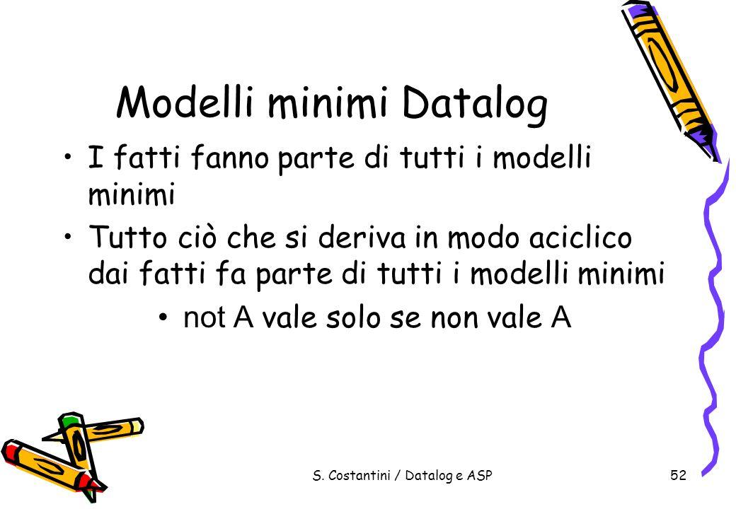 Modelli minimi Datalog