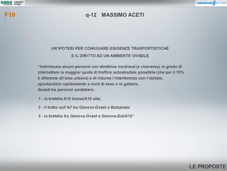 F10 q-12 MASSIMO ACETI. UN'IPOTESI PER CONIUGARE ESIGENZE TRASPORTISTICHE. E IL DIRITTO AD UN AMBIENTE VIVIBILE.