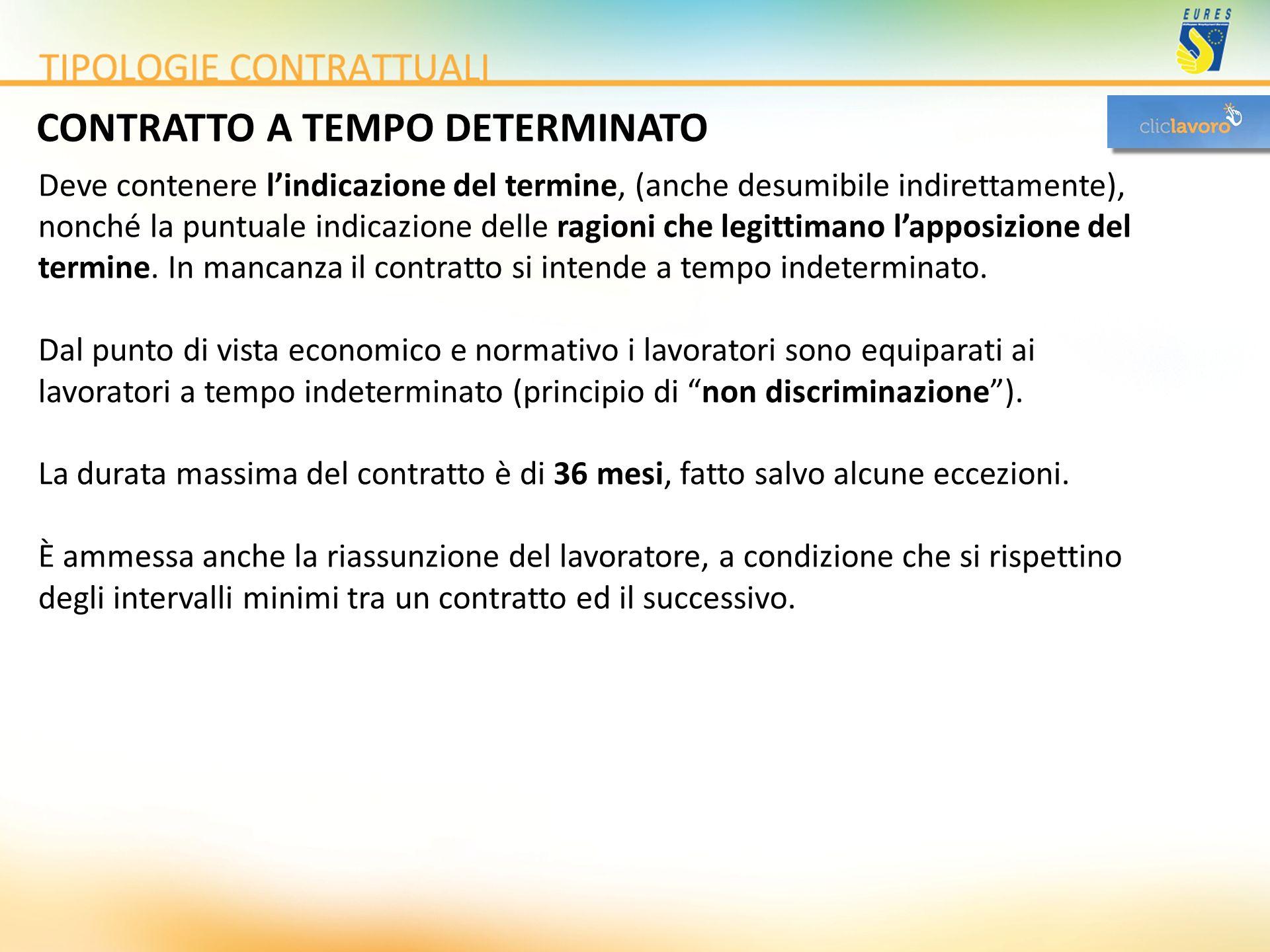CONTRATTO A TEMPO DETERMINATO