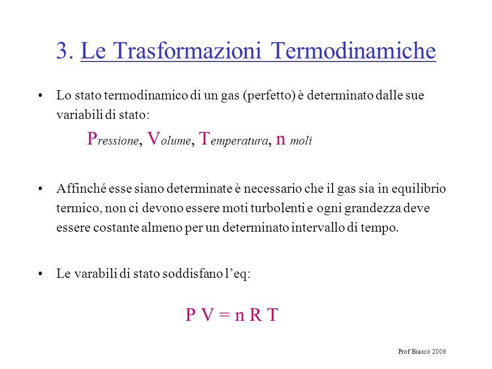 3. Le Trasformazioni Termodinamiche