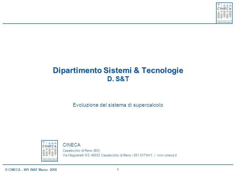 Dipartimento Sistemi & Tecnologie D. S&T