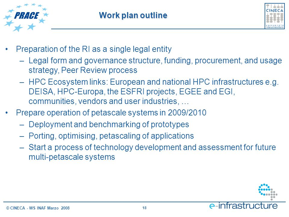 Preparation of the RI as a single legal entity